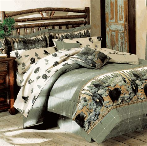bear bedding rustic bedding black bear queen sheet set black forest decor