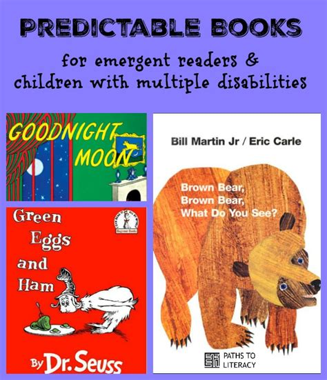 predictable picture books predictable books for students with disabilities