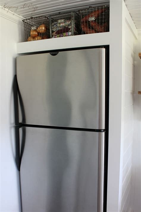 Refrigerator Cabinet by Keeping It Cozy Kitchen Update Building A Refrigerator