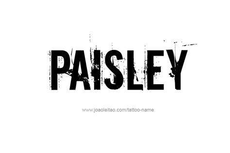 pattern names like paisley paisley name tattoo designs