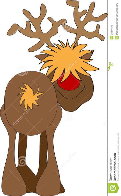 reindeer stock vector illustration  holiday cartoon