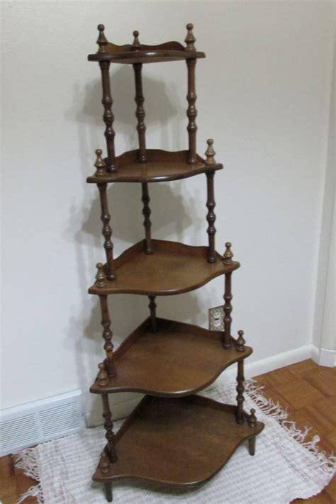 Corner Tier Shelf by Corner Shelf Vintage Wood 5 Tier Stand Assemble Required