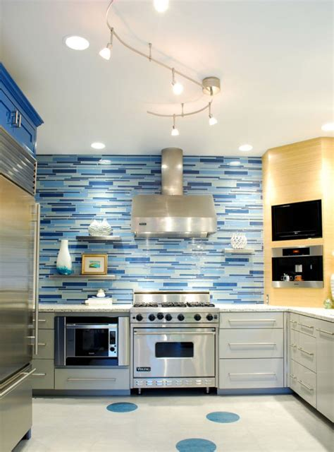 Spruce up your home with color blue tiles for the kitchen and bathroom