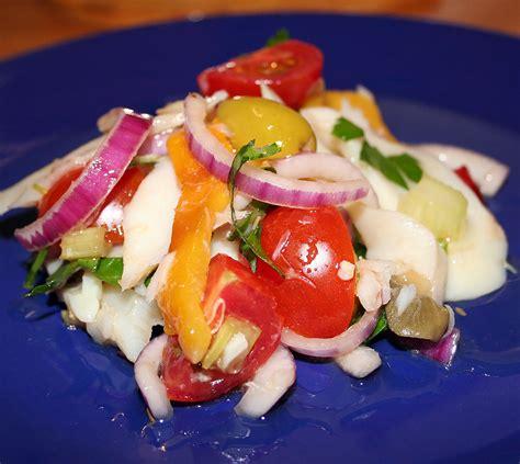 come cucinare il pesce stocco pesce stocco in insalata con peperoni la cucina di claudio