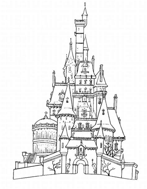 Disney Castle Coloring Pages castle coloring pages world