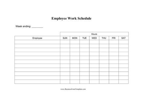 employee daily work schedule template daily work schedule template free templates in doc ppt