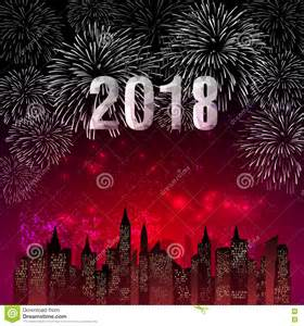 vector illustration of colorful fireworks happy new year