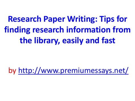 research paper writing tips research paper writing tips for finding research