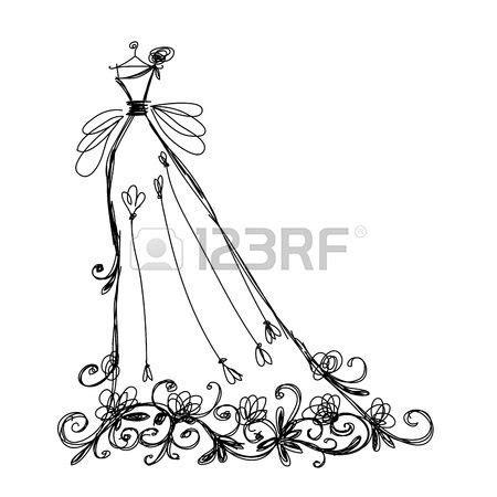 braut zeichnen skizze der braut kleid mit floralen ornament f 252 r ihren