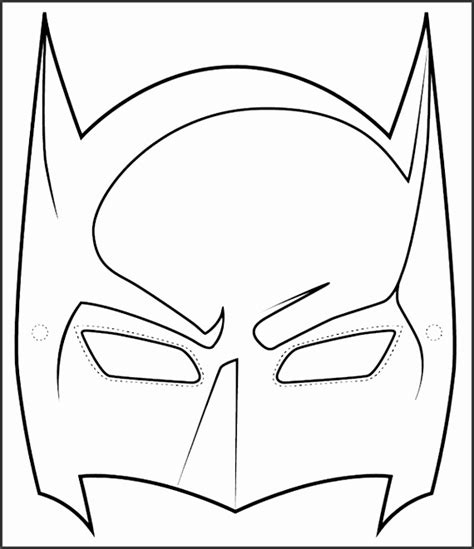 batman face mask template 8 batman and robin mask template sletemplatess