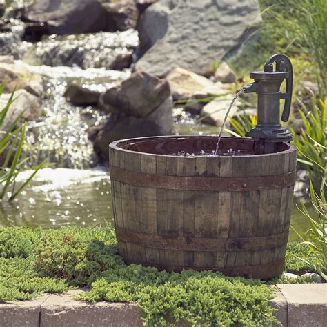 Wooden Barrel Planters At Lowes by 23 Best Images About Outdoor Water Features On