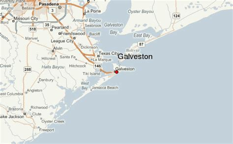 texas map galveston galveston location guide