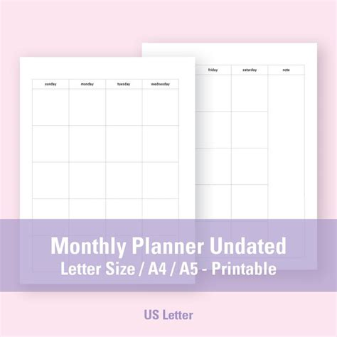 printable calendar letter size 30 best lodge planner images on pinterest organizers