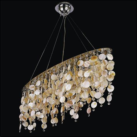 Oyster Chandelier Oval Chandelier With Oyster Shell And Seaside