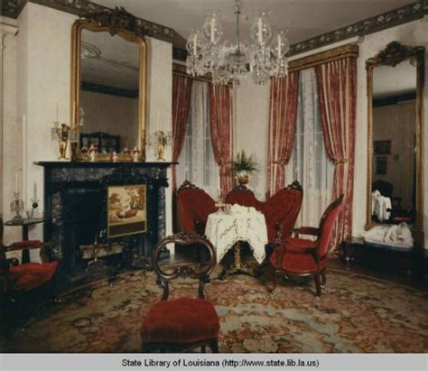 interior view of rosedown plantation home near