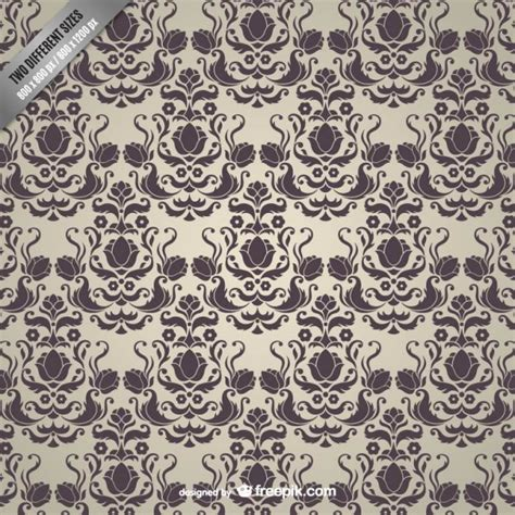 vintage pattern ai vintage damask pattern vector free download