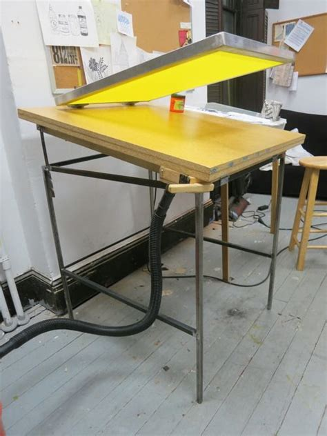 vacuum screen printing table screen printing