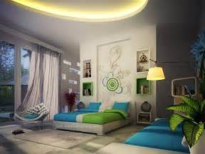 blue and green home decor bedroom feature walls