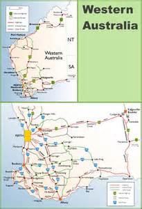 map western australia western australia highway map