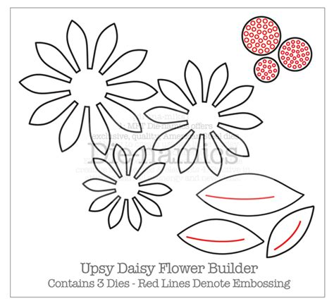 flower die cut template februari 2011 patterned paper