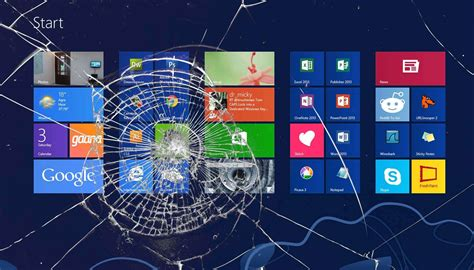 wallpaper laptop layar pecah windows wallpaper broken screen wallpapersafari