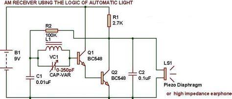 darlington transistor radio am receiver from sensor build circuit