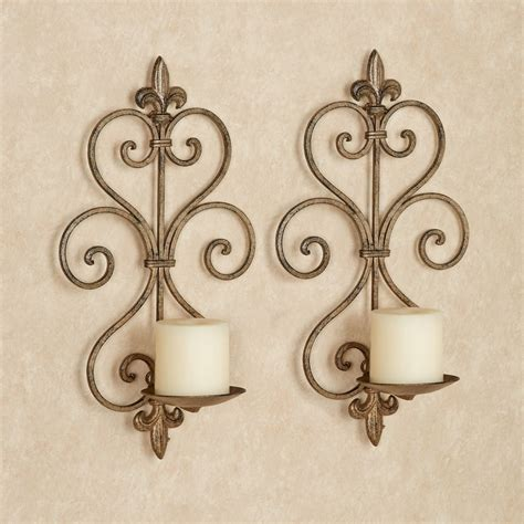 Iron Wall Sconce Charles Wrought Iron Wall Sconce Pair