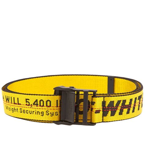 lyst white c o virgil abloh quot industrial quot belt in yellow for