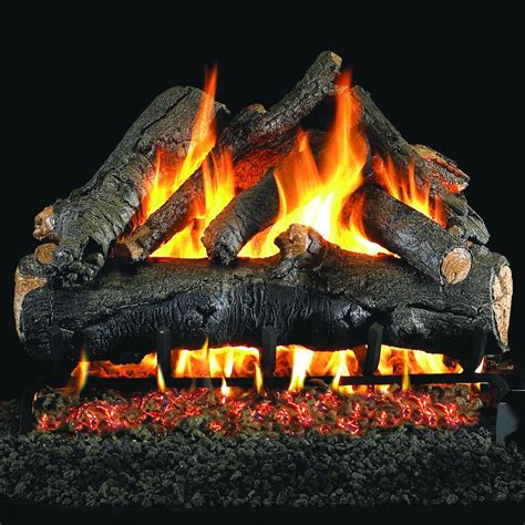 peterson real fyre 24 inch american oak gas log set with