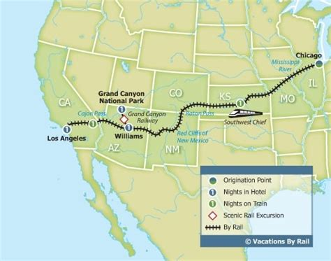 grand los angeles map southwest chief with the grand chicago to los angeles
