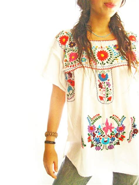 Wst 19210 Flower Embroidered Blouse viola pearl my current obsession embroidered mexican shirt