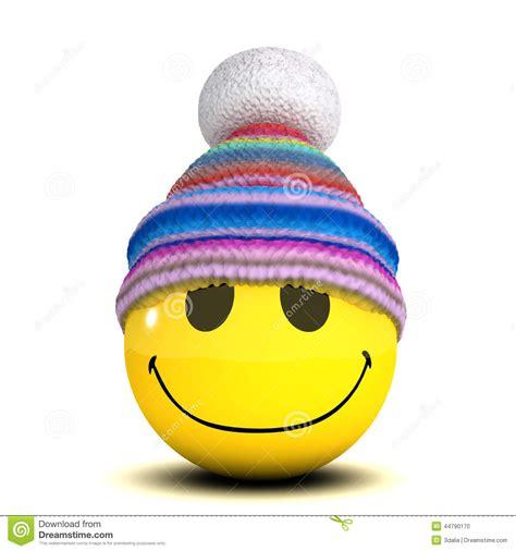Smile Hat 3d smiley woolen hat stock illustration illustration of