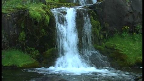 mesmerizing small waterfall in iceland youtube