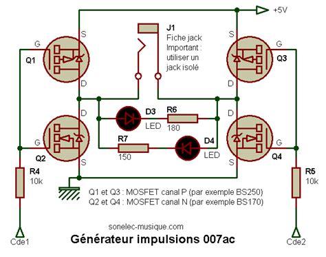 transistor mosfet utilisation electronique realisations generateur impulsions 007