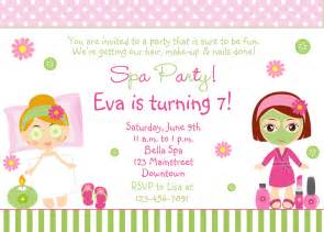 spa birthday invitation printable by thebutterflypress