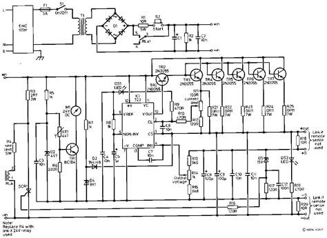 high current power supply circuit circuits apmilifier 13 8v 40a high current power supply