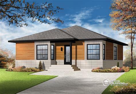 small style home plans plain pied contemporain agrandi blogue dessins drummond