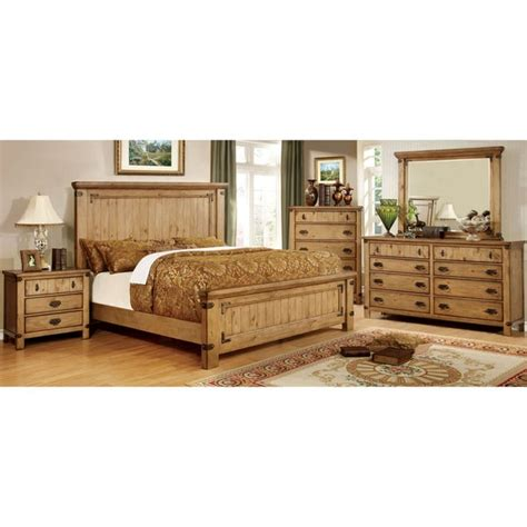 country style bedroom furniture sets furniture of america sierren country style 4 piece bedroom
