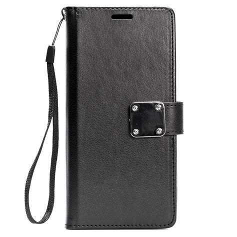 Iphone X Leather Folio Casing Flip Cover Original Standard wholesale iphone x ten multi pockets folio flip leather wallet with black