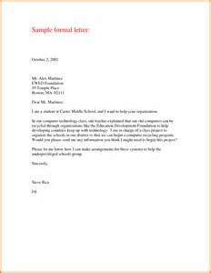Business Letter Format For Students sample of formal letter format appeal letters sample