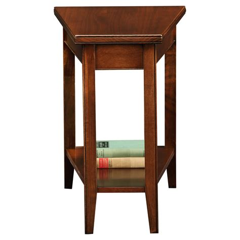 leick laurent recliner wedge end table end tables at