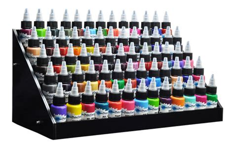 Tattoo Ink Stand | black acrylic tattoo large ink display stand 5 tier rack