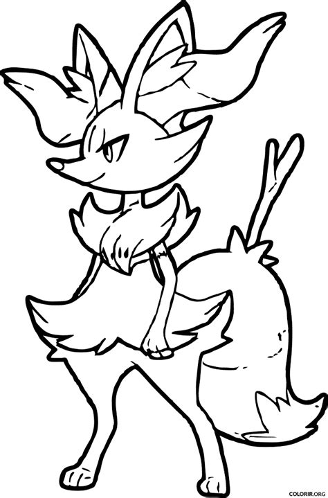 coloring pages pokemon chesnaught drawings pokemon pok 233 mon braixen para colorir colorir org
