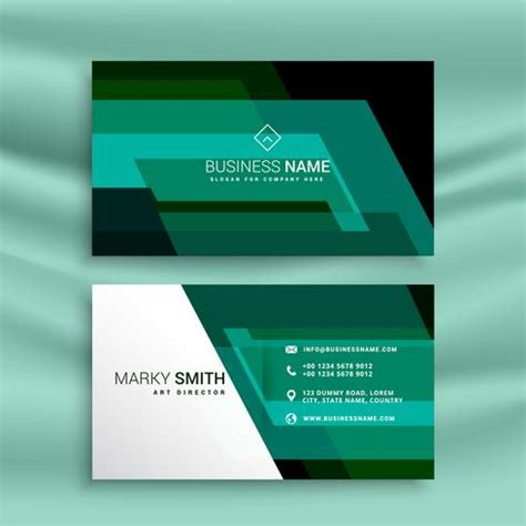 2 x 31 2 business card template abstract green business card design template