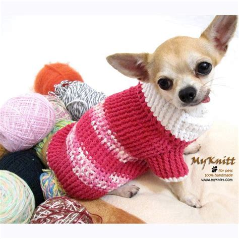 chihuahua puppy clothes pink sweater crochet myknitt clothes chihuahua pet by myknitt chihuahua
