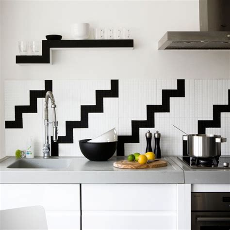 Black And White Tile Kitchen Ideas | black and white kitchen tile 2017 grasscloth wallpaper