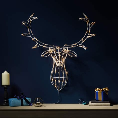 light up decorations decoration stag mouthtoears