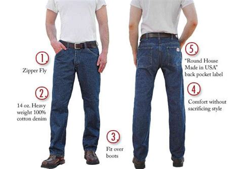 round house jeans 105 american made jeans regular fit 14 oz 5 pocket jeans made in usa round house
