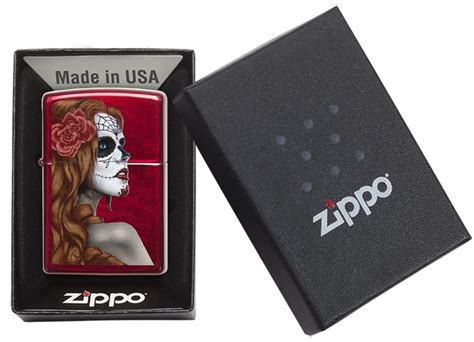 L In Zippo by Zippo Quot Day Of The Dead Quot Windproof Lighter