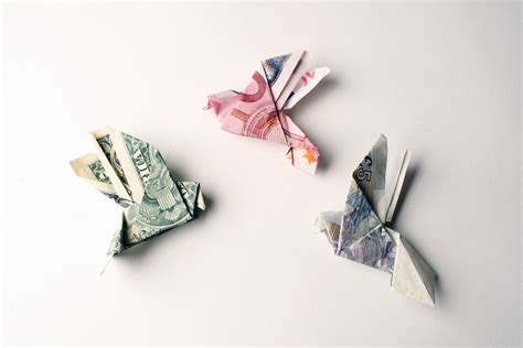 Money Origami Bird - tine de ruysser s money jewelry something to think about